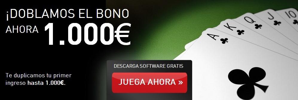 Cirsa te ofrece el 100% de lo que ingreses hasta un máximo de 1.000 euros en forma de bono