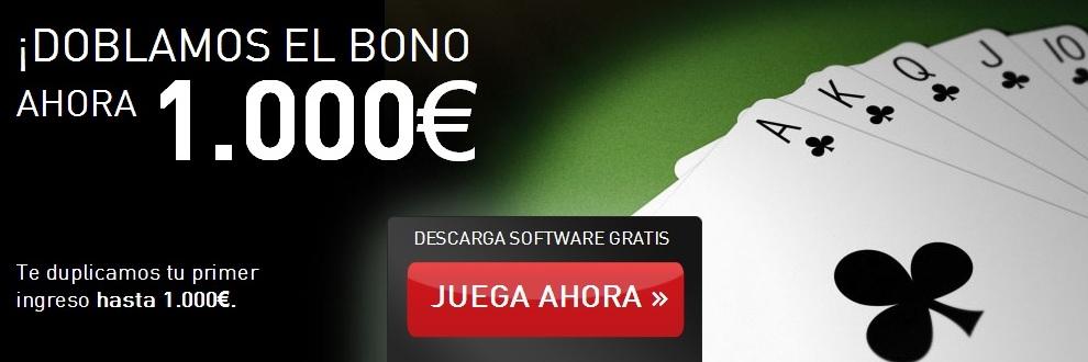 Registrate con Cirsa y recibe el bono de 1000 euros para entrar a jugar poker en la sala