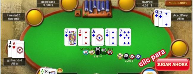Jugar Texas Holdem gratis, juego de Texas Holdem