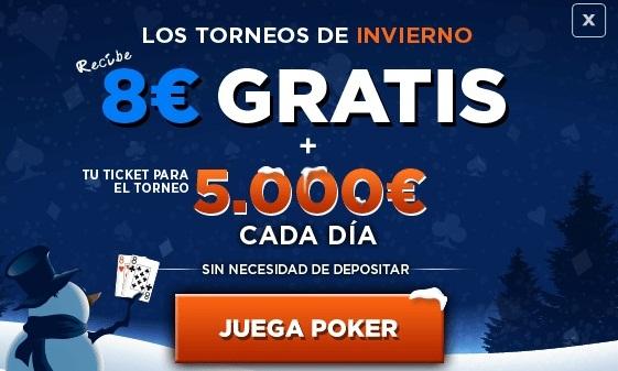 Registrate con 888Poker y recibe tu bono de bienvenida de hasta 400 euros para empezar a jugar poker en la sala